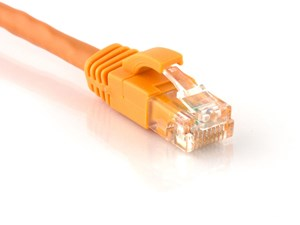 Picture of CAT6 Patch Cable - 2 FT, Orange, Booted