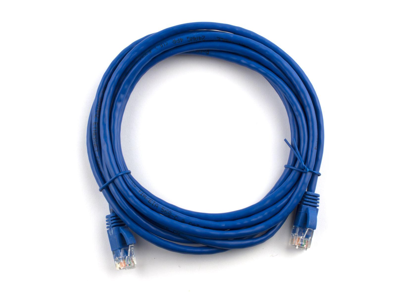 25 ft Blue SoDo Tek TM RJ45 Cat5e Ethernet Patch Cable For Samsung SF-3000 Printer