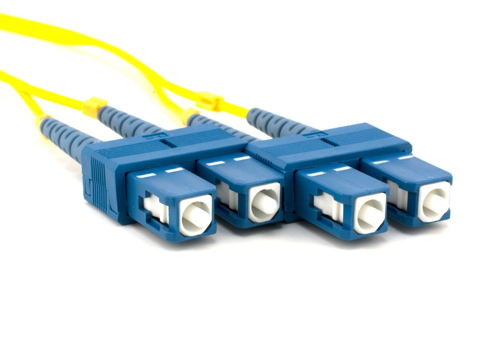 2m Singlemode Duplex Fiber Optic Patch Cable 9125 - SC to SC ...