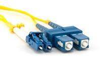 Picture of 2m Singlemode Duplex Fiber Optic Patch Cable (9/125) - LC to SC