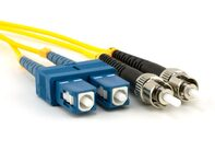 Picture of 1m Singlemode Duplex Fiber Optic Patch Cable (9/125) - SC to ST