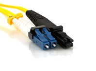Picture of 2m Singlemode Duplex Fiber Optic Patch Cable (9/125) - Mini LC to MTRJ