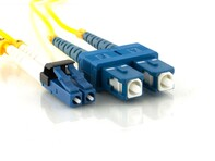 Picture of 1m Singlemode Duplex Fiber Optic Patch Cable (9/125) - Mini LC to SC