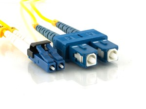 Picture of 2m Singlemode Duplex Fiber Optic Patch Cable (9/125) - Mini LC to SC