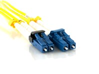 Picture of 5m Singlemode Duplex Fiber Optic Patch Cable (9/125) - LC to Mini LC