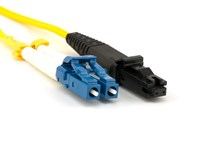 Picture of 2m Singlemode Duplex Fiber Optic Patch Cable (9/125) - LC to MTRJ