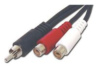 Picture of .5 FT RCA Mono to Stereo Cable - RCA Male to Dual RCA Females