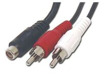 Picture of .5 FT RCA Mono to Stereo Cable - RCA Female to Dual RCA Males