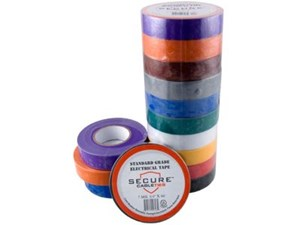 Picture of Multi-Colored Electrical Tape 3/4 Inch x 66 Feet - 10 Pack