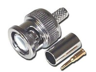 Picture of BNC Connector - Crimp - RG59, RG62 - Male - 3 piece - 10 Pack