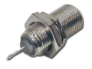 Picture of F-Type Connector - Jack Panel Receptacle - Female - 10 Pack