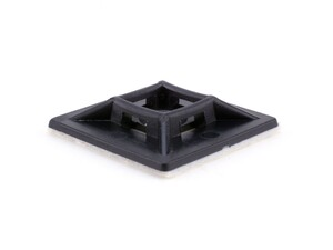 Picture of 1 1/8 Inch Black Square Adhesive Tie Mount - 100 Pack