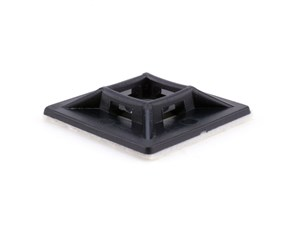 Picture of 1 Inch Black Square Adhesive Tie Mount - 100 Pack