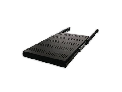 "Picture of 19"" Single-Sided Slide-Out Vented Shelf W/Adjustable Rails, 26""-37""D, Black"