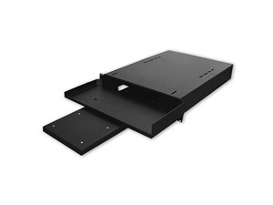 "Picture of 19"" Keyboard Shelf With Pull-Out Mouse Tray, 1U, 15""D, Black"