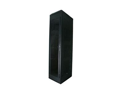 """Picture of 6Ft Floor Enclosure, Acrylic Door,  23""""W X 23""""D, 42U, Black, Knockdown"""