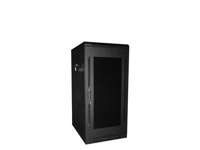 """Picture of 4Ft Floor Enclosure, Acrylic Door,  23""""W X 31""""D, 28U, Black, Knockdown"""