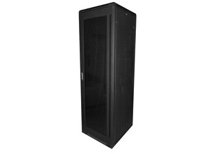 "Picture of 7Ft Floor Enclosure, Acrylic Door,  27""W X 31""D, 40U, Black, Knockdown"
