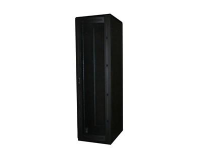"""Picture of 6Ft Floor Enclosure, Vented Mesh Door,  23""""W X 31""""D, 42U, Black, Knockdown"""