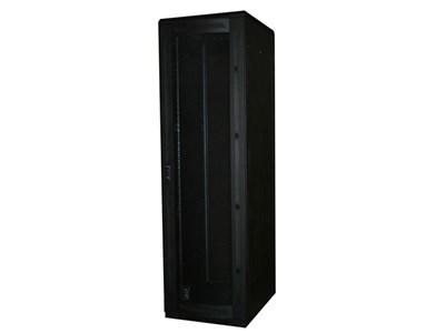 """Picture of 7Ft Floor Enclosure, Vented Mesh Door,  27""""W X 34""""D, 45U, Black"""