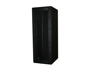 """Picture of 6Ft Floor Enclosure, Vented Mesh Door,  27""""W X 42""""D, 42U, Black"""