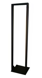 """Picture of 7Ft 2-Post 19"""" Open Frame Lte Steel Floor Rack, 45U, Black"""