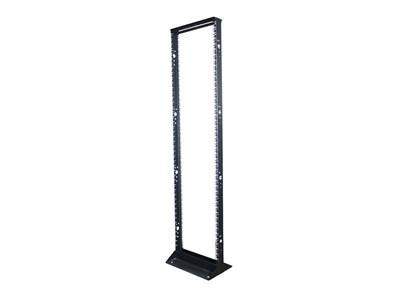 """Picture of 7Ft 2-Post 19"""" Open Frame Steel Floor Rack, 45U, Black"""