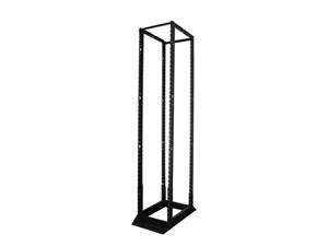 """Picture of 7Ft 4-Post 19"""" Open Frame Steel Floor Rack,  Adjustable 24""""-36""""D, 45U, Black"""
