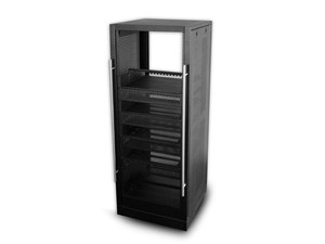 """Picture of 5Ft Home Theater Rack W/Shelves, 19"""" X 25"""", 30U, Black"""