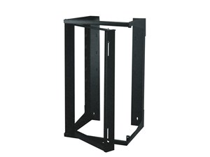 "Picture of 3Ft Swing-Out Open Frame Wall Rack, 18""D, 20U Black"