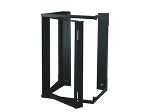 """Picture of 3Ft Swing-Out Open Frame Wall Rack, 24""""D, 20U Black"""