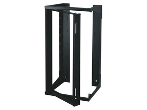 "Picture of 4Ft Swing-Out Open Frame Wall Rack, 18""D, 25U Black"