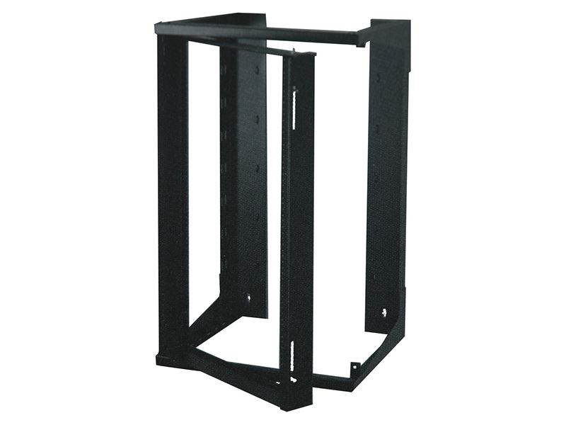 4ft Swing Out Open Frame Wall Rack 24 Inchd 25u Black