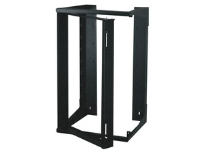 "Picture of 4Ft Swing-Out Open Frame Wall Rack, 24""D, 25U Black"