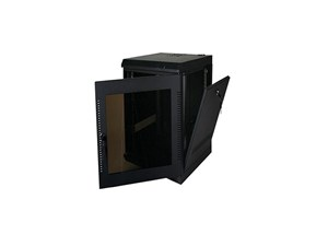 "Picture of Wall Enclosure, Front/Side Access, 28""H X 21""W X 20""D, 14U, Black"
