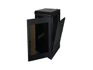 """Picture of Deep Wall Enclosure, Front/Side Access, 39""""H X 21""""W X 28""""D, 20U, Black"""