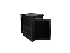 "Picture of Wall Enclosure, Front/Rear Access, 27""H X 21""W X 24""D, 14U, Black"