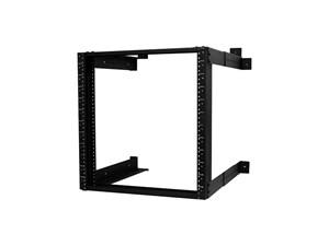 """Picture of 2Ft Open Frame Wall Rack, 18""""-26"""" Adjustable Depth, 12U, Black"""