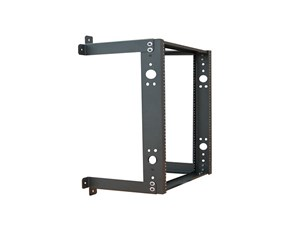 """Picture of 3Ft Open Frame Wall Rack, 12""""D, 16U Black"""