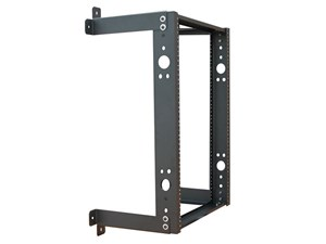 """Picture of 3Ft Open Frame Wall Rack, 12""""D, 20U Black"""