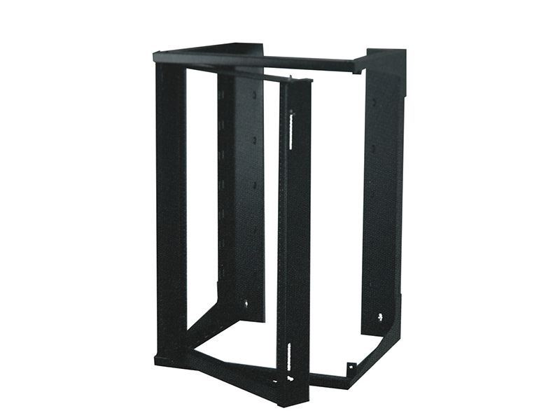 3ft Swing Out Open Frame Wall Rack 24d 20u Black
