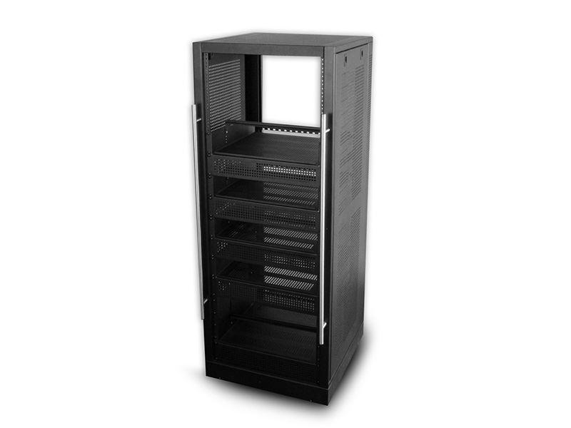 5ft Home Theater Rack Wshelves 19 X 25 30u Black