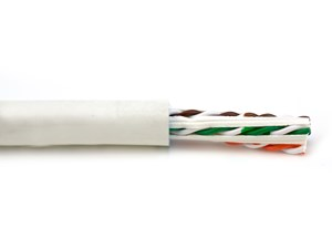Picture of Category 6A Network Cable - White, Riser (CMR), Solid, Unshielded - 1000 FT
