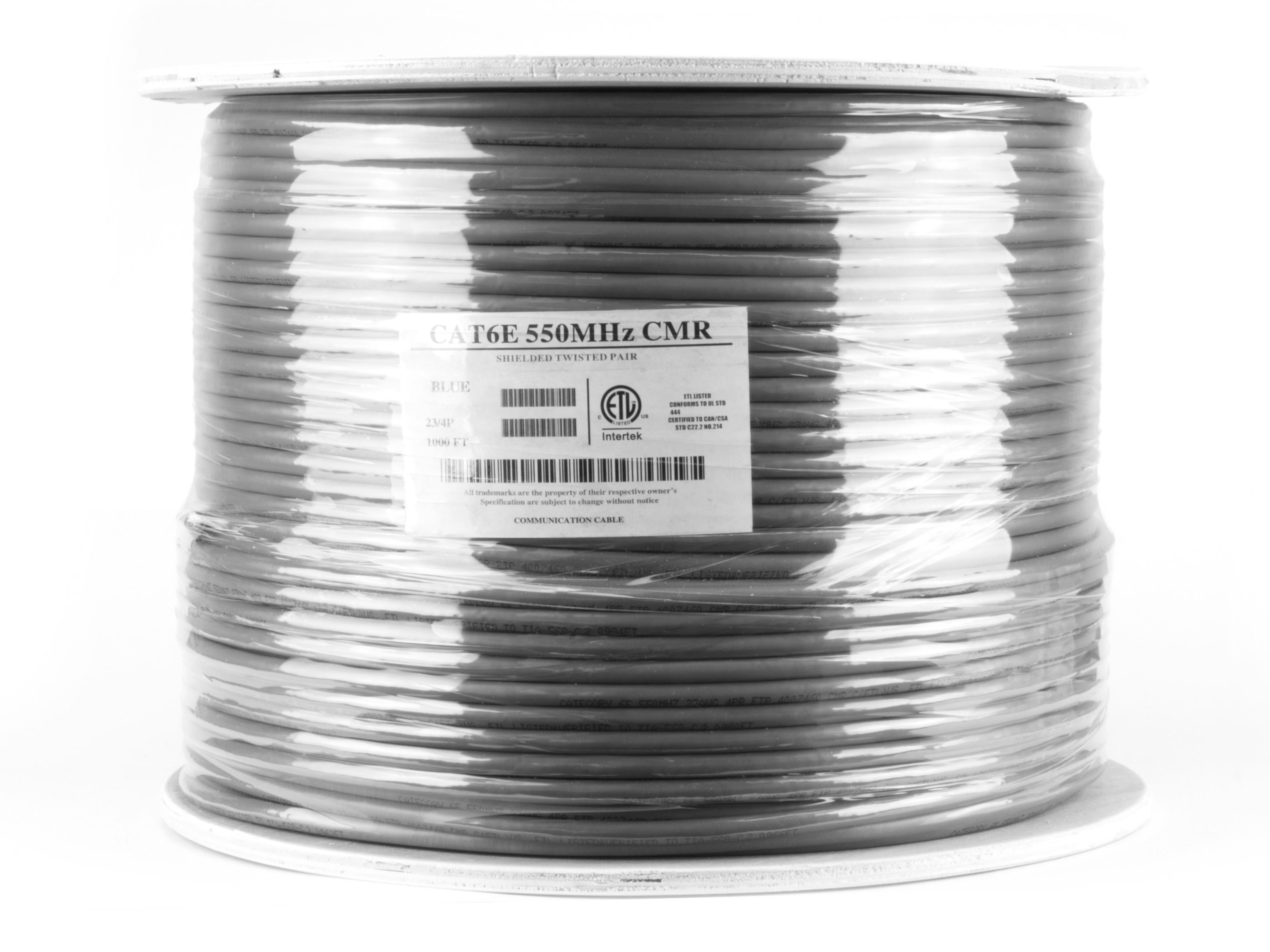 ... Picture of Cat6 Shielded Network Cable - Solid, STP, Gray, Riser (CMR