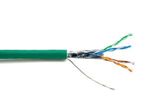 Picture of Mini CAT6A Relaxed Bulk Cable - Stranded, Green, Riser (CMR), Shielded (F/UTP) - 1000 FT