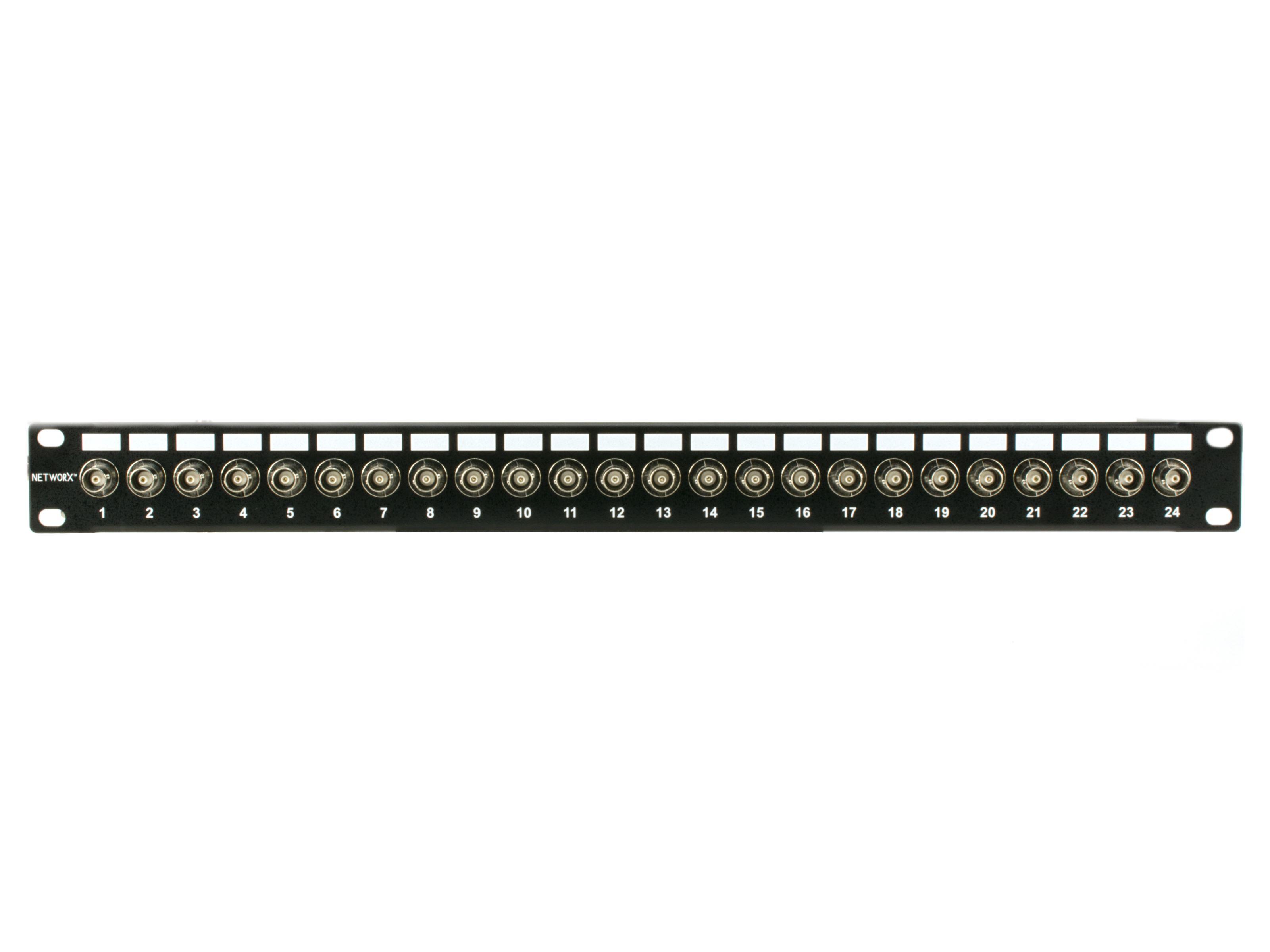 1RU 16-Port Blank BNC Rack Mount Panel Lifetime Warranty