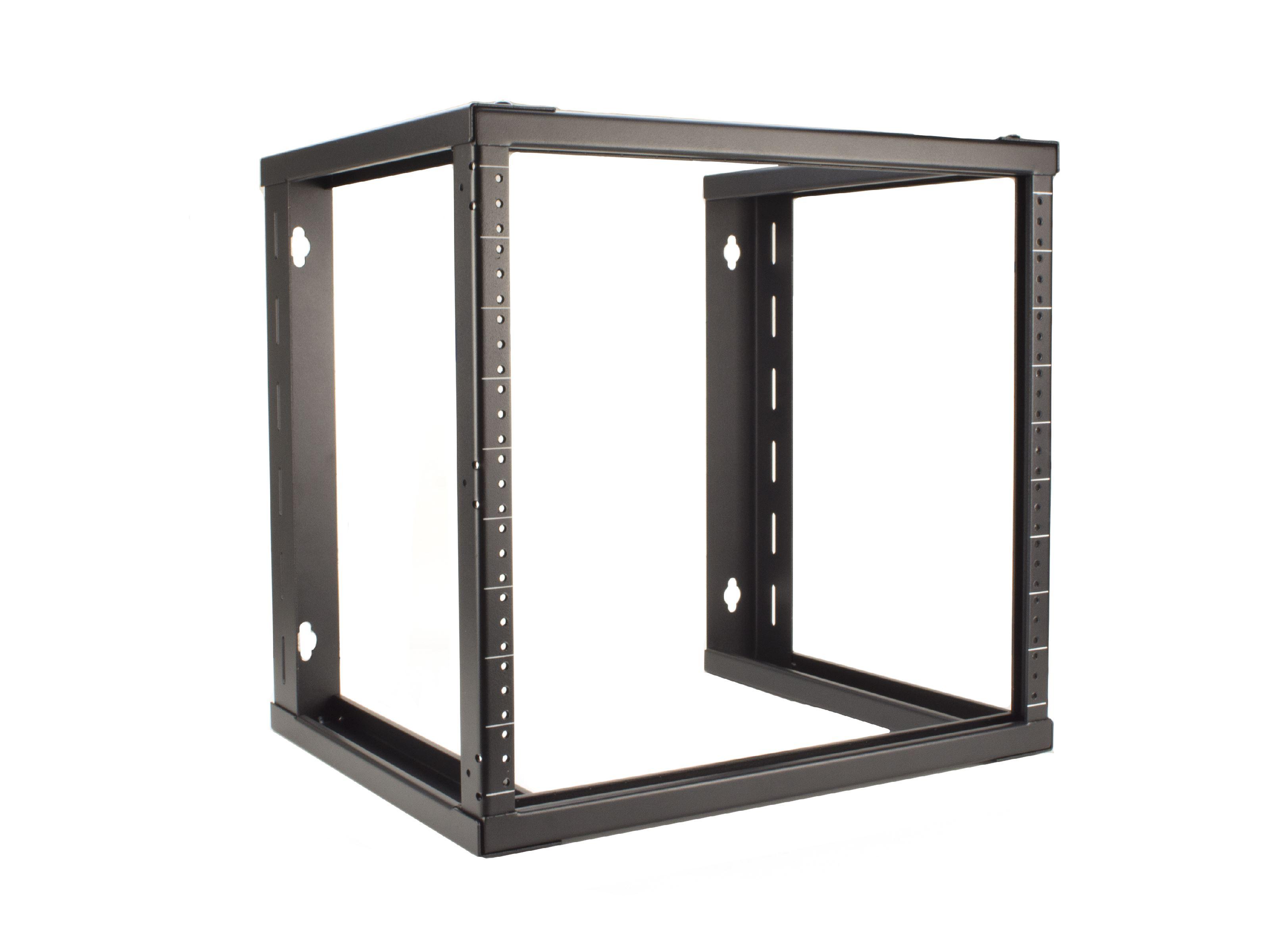 12U Open Frame Wall Mount Rack - 101 Series, 16 Inches Deep, Flat ...