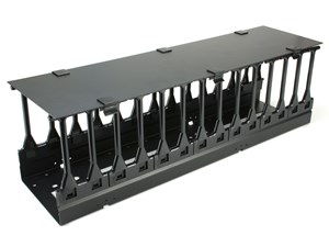 Picture of Vertical Mount Cable Tray - 2FT, 6 Inches Deep, Black