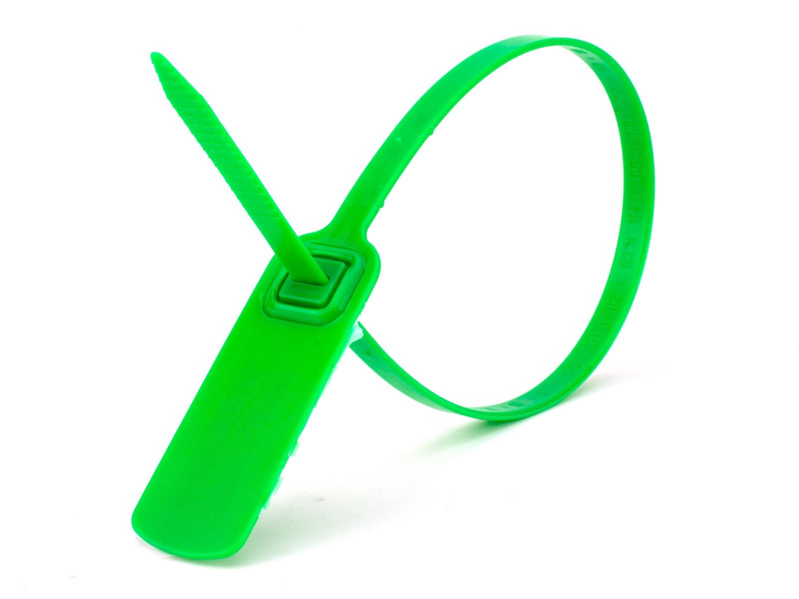 Security Tie 14 1 2 Inch Standard Green Pull Tight