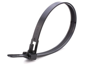 Picture of 10 Inch Black UV Standard Releasable Cable Tie - 100 Pack